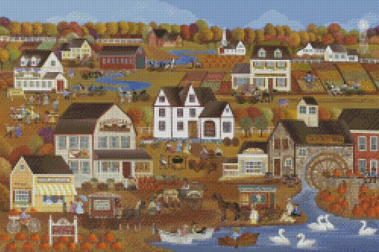Carol Dyer cross-stitch - Clyde's Cider Barn