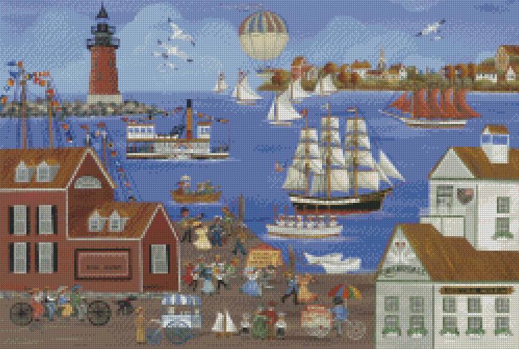 Carol Dyer cross-stitch - Dockside Music Makers