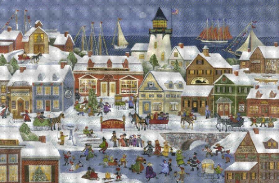 Carol Dyer cross-stitch - Wintertime