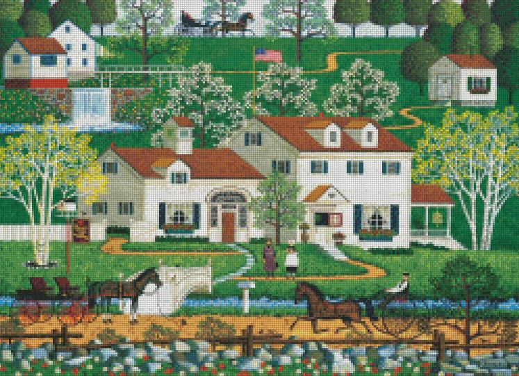 Charles Wysocki cross-stitch - Gingernut Valley