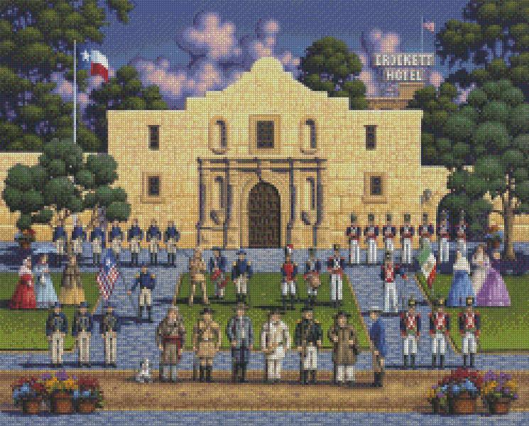 Eric Dowdle cross-stitch - Alamo