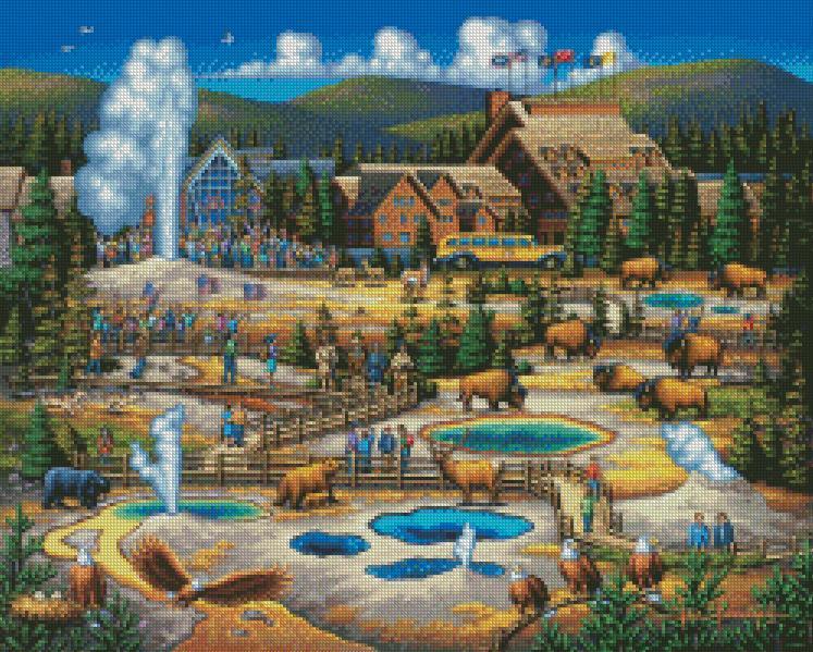 Eric Dowdle - Yellowstone cross stitch chart
