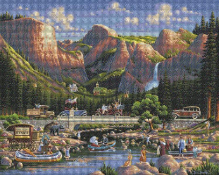 Eric Dowdle - Yosemite cross stitch chart