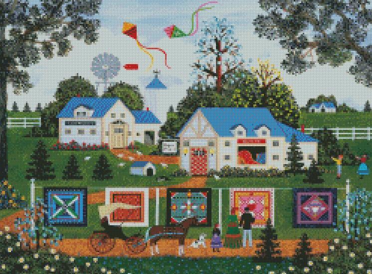 Jane Wooster Scott cross-stitch - Patchwork Sampler