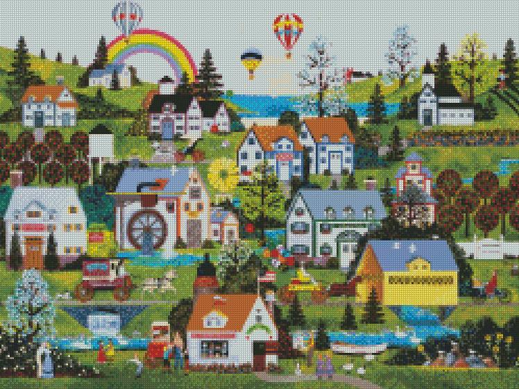 Jane Wooster Scott cross-stitch - Somewhere over the Rainbow