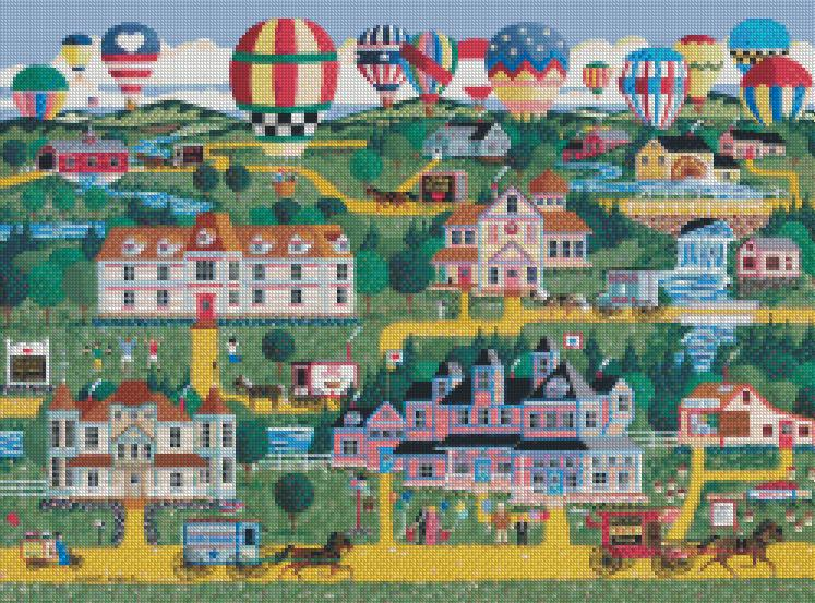 Anthony Kleem - Battle Creek Balloon Festival cross stitch chart