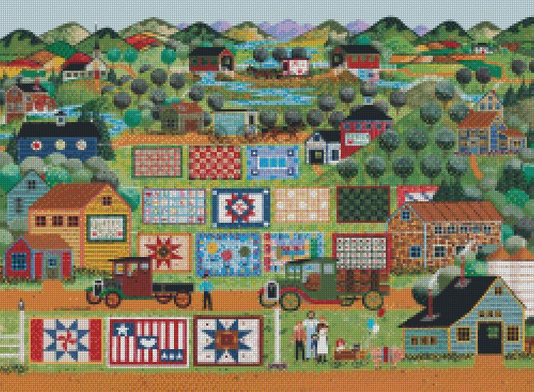 Anthony Kleem - Quilts For Sale cross stitch chart