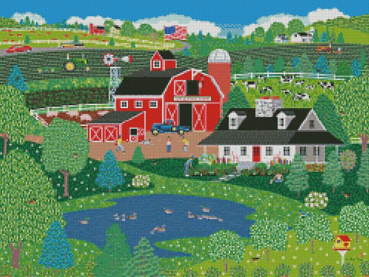 Mark Frost cross-stitch ApplePond Farm Spring