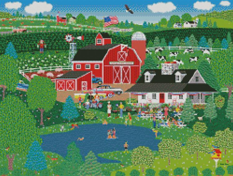 Mark Frost cross-stitch ApplePond Farm Summer