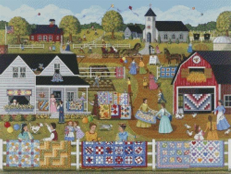 Sheila Lee cross-stitch - Annual Quilt Sale