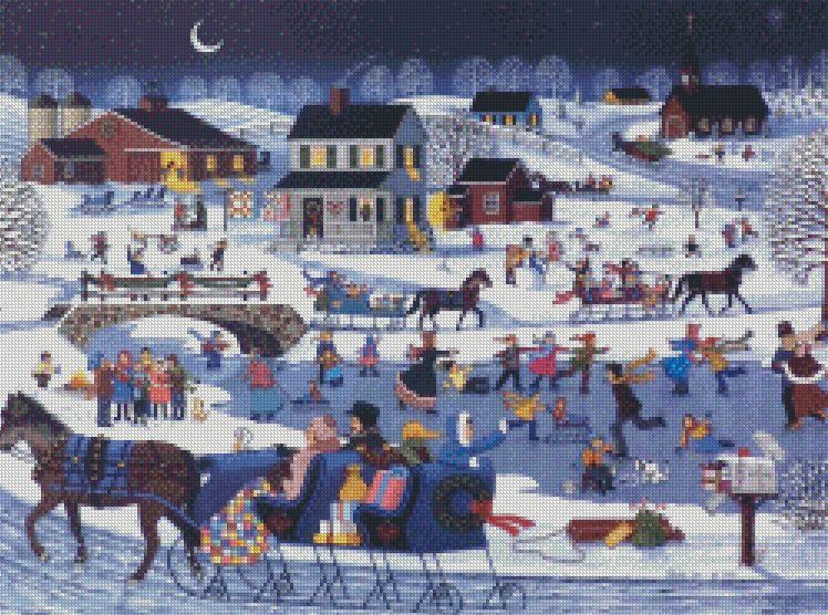 Sheila Lee cross-stitch - Home for Christmas