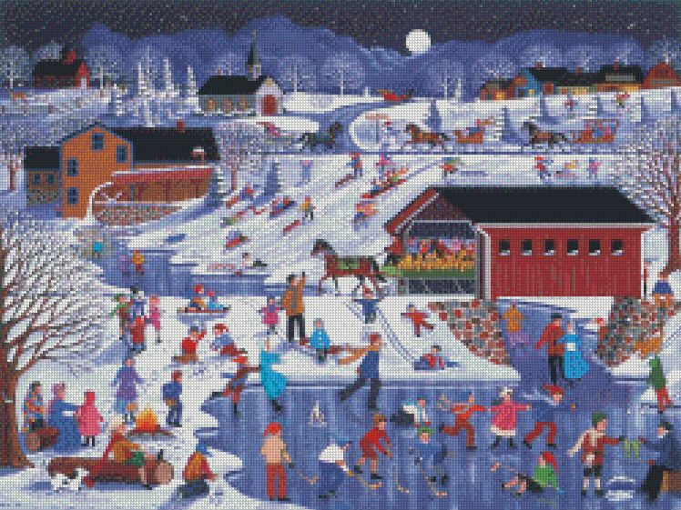 Sheila Lee cross-stitch - More Snow Coming